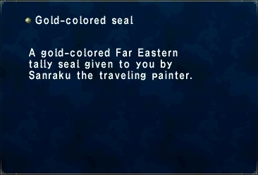Gold-colored Seal