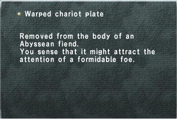 Warped Chariot Plate