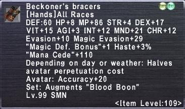 Beckoner's bracers