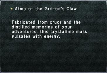 Griffons claw atma