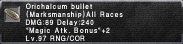 Orichalcum Bullet