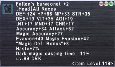 Fallen's burgeonet +2