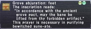 Grove abjuration feet