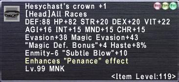 Hesychast's Crown 1 description