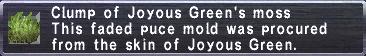 Joyous Green's moss