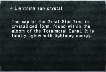 Lightning sap crystal