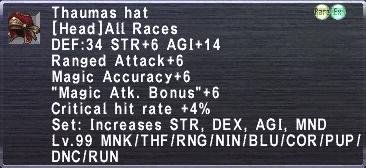 Thaumas Hat description