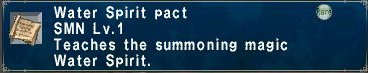 Water spirit pact