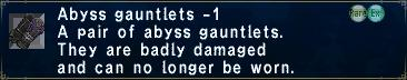 Abyss Gauntlets Minus 1