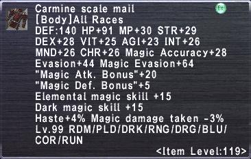 Carmine Scale Mail