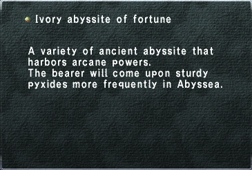 Ivory abyssite of fortune