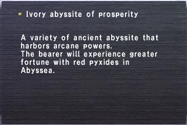 Ivory abyssite prosperity