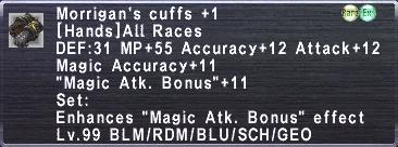 Morrigan's Cuffs +1
