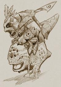 Ork riding lizard