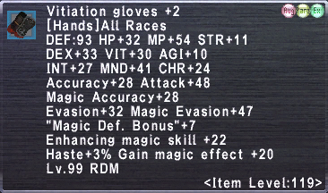 Vitiation gloves +2