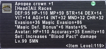 Apogee Crown +1