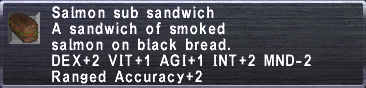 Salmon sub sandwich