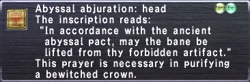 Abyssal abjuration head