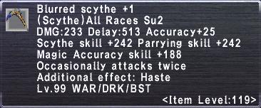 Blurred Scythe +1