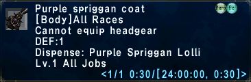 Purple spriggan coat