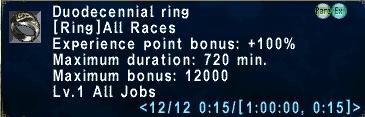 Duodecennial Ring