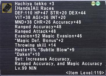 Hachiya Tekko +3
