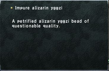 Impure alizarin yggzi