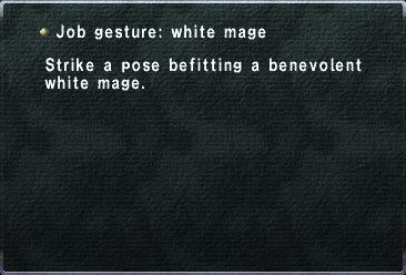 Job gesture - white mage