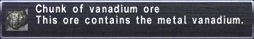 Vanadium Ore