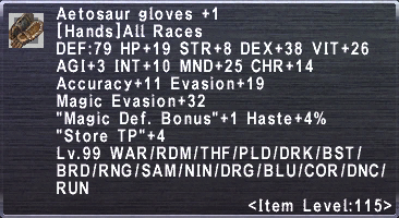 Aetosaur Gloves +1