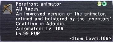 Forefront Animator