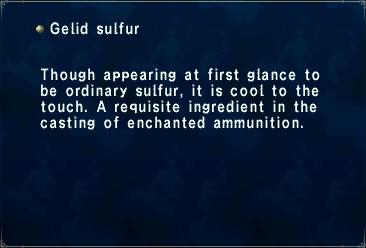 Gelid sulfur