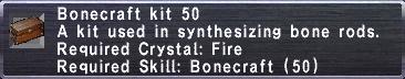 Bonecraft Kit 50