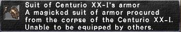Centurio XX-I's armor