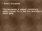 Empty hourglass