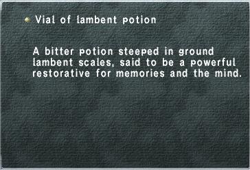 Vial of Lambent Potion