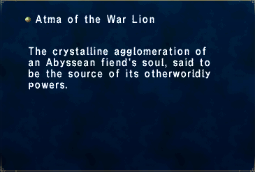Atma of the War Lion