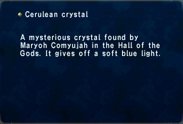 Key item cerulean crystal