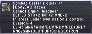 Combat Caster's Cloak+1