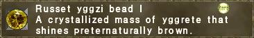 Russet yggzi bead I