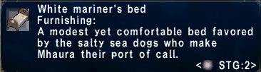 White mariner's bed