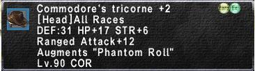 Commodore's Tricorne +2