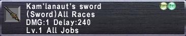 Kam'lanaut's Sword