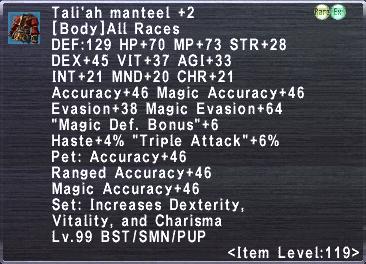 Tali'ah Manteel +2