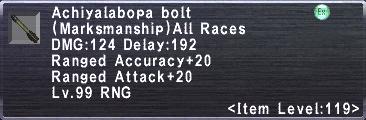 Achiyalabopa Bolt