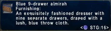 Blue 9drawer almirah