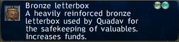 Bronze letterbox