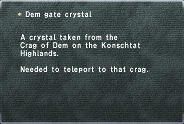 Dem Gate Crystal