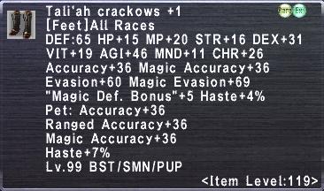 Tali'ah Crackows +1