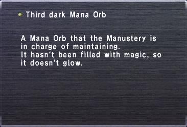 Third Dark Mana Orb